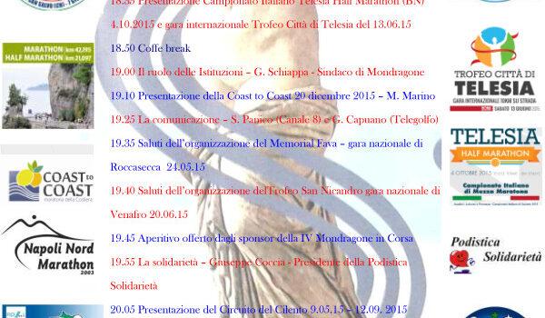 Mondragone in Corsa: ecco il programma dell'incontro di domani 24 aprile