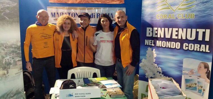 Il gruppo degli Oranges alla Mostra d'Oltremare Half Marathon