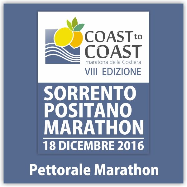 Pettorale Sorrento Positano Marathon 2016