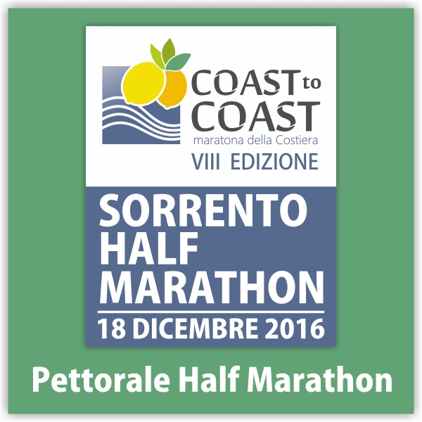 Pettorale Sorrento Half Marathon 2016